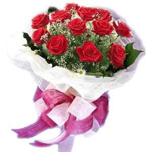 Bartın çiçek satışı  11 adet kırmızı güllerden buket modeli