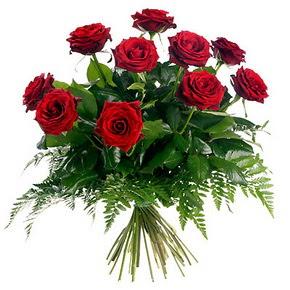 Bartın çiçek gönderme  10 adet kırmızı gülden buket
