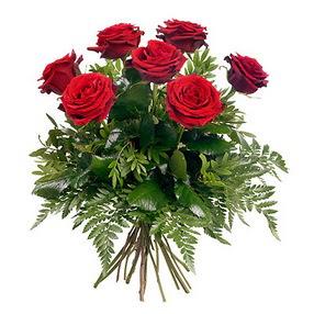 Bartın online çiçek gönderme sipariş  7 adet kırmızı gülden buket