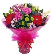Karışık mevsim çiçekleri demeti  Bartın online çiçek gönderme sipariş