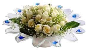Bartın çiçek online çiçek siparişi  11 adet Beyaz güller özel cam tanzim