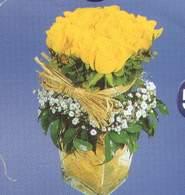 Bartın anneler günü çiçek yolla  Cam vazoda 9 Sari gül