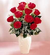 Bartın çiçekçi mağazası  9 adet vazoda özel tanzim kirmizi gül