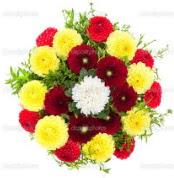 Bartın çiçekçi mağazası  13 adet mevsim çiçeğinden görsel buket