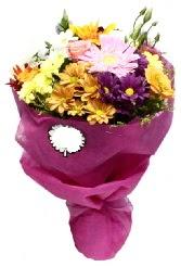 1 demet karışık görsel buket  Bartın anneler günü çiçek yolla