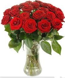 Bartın çiçek mağazası , çiçekçi adresleri  Vazoda 15 adet kırmızı gül tanzimi