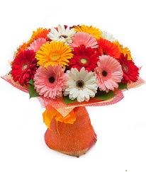 Renkli gerbera buketi  Bartın anneler günü çiçek yolla