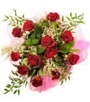 12 adet kırmızı gül buketi  Bartın 14 şubat sevgililer günü çiçek