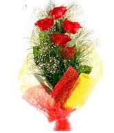 5 li kırmızı gül buketi  Bartın internetten çiçek satışı
