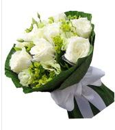 9 adet beyaz gül buketi  Bartın çiçek siparişi sitesi