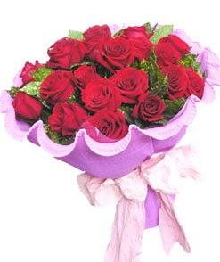 12 adet kırmızı gülden görsel buket  Bartın çiçekçi mağazası