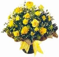 Bartın çiçek , çiçekçi , çiçekçilik  Sari gül karanfil ve kir çiçekleri
