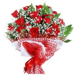 11 kırmızı gülden buket  Bartın 14 şubat sevgililer günü çiçek