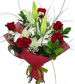 1 dal kazablanka 5 kırmızı gül buketi  Bartın kaliteli taze ve ucuz çiçekler