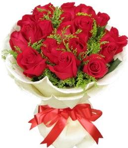 19 adet kırmızı gülden buket tanzimi  Bartın çiçek servisi , çiçekçi adresleri