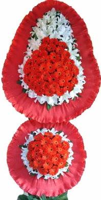 Bartın online çiçek gönderme sipariş  Çift katlı kaliteli düğün açılış sepeti