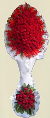 Çift katlı kıpkırmızı düğün açılış çiçeği  Bartın anneler günü çiçek yolla