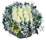 Bartın çiçekçiler  Beyaz harika bir gül sepeti