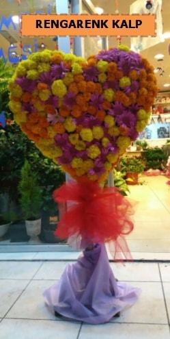 Ankara mevsim çiçeklerinden kalp perförje  Bartın çiçekçi telefonları