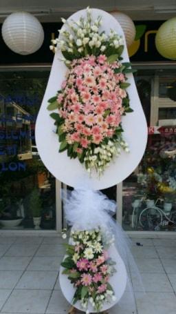 Çift katlı özel şahane sepet çiçeği  Bartın çiçekçi telefonları