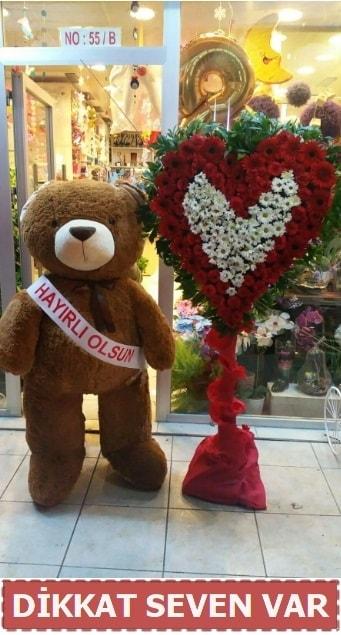 1.5 Metre peluş ayı ve Kalp  Bartın çiçek gönderme sitemiz güvenlidir