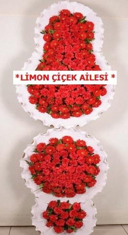 3 katlı kırmızı düğün açılış çiçeği  Bartın çiçek gönderme