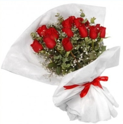 9 adet kırmızı gül buketi  Bartın çiçekçi mağazası