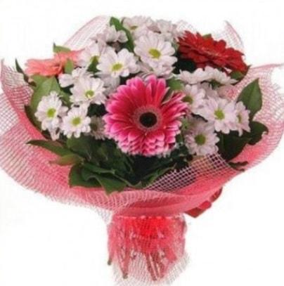 Gerbera ve kır çiçekleri buketi  Bartın internetten çiçek siparişi