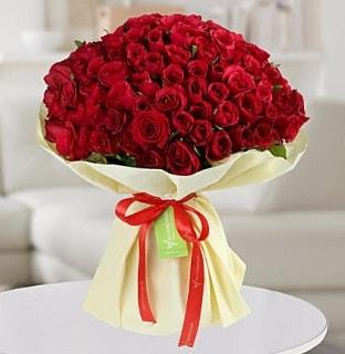 101 adet kırmızı gül buketi koca demet  Bartın internetten çiçek siparişi