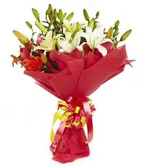5 dal kazanlanka lilyum buketi  Bartın çiçek gönderme sitemiz güvenlidir