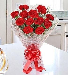 12 adet kırmızı karanfil buketi  Bartın İnternetten çiçek siparişi