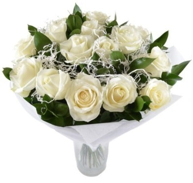 15 beyaz gül buketi sade aşk  Bartın çiçek satışı