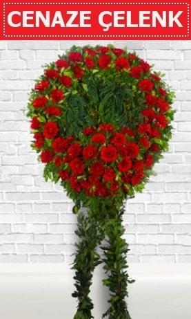 Kırmızı Çelenk Cenaze çiçeği  Bartın İnternetten çiçek siparişi