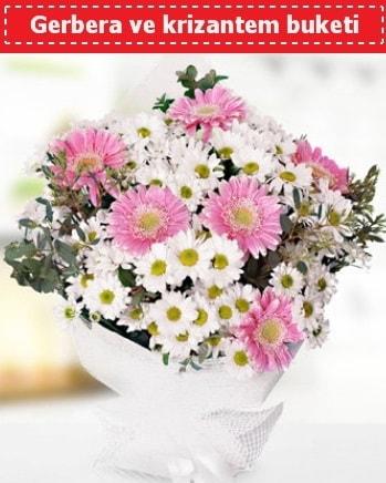 Papatya ve Gerbera Buketi  Bartın çiçek , çiçekçi , çiçekçilik