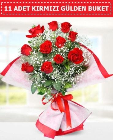 11 Adet Kırmızı Gül Buketi  Bartın internetten çiçek siparişi