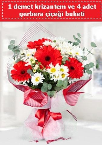 Krizantem ve Gerbera Buketi  Bartın çiçek siparişi sitesi