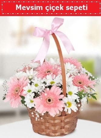 Mevsim kır çiçek sepeti  Bartın çiçek , çiçekçi , çiçekçilik