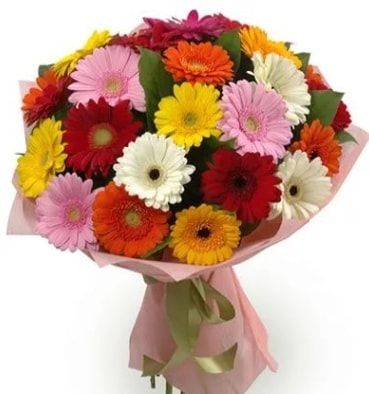 Karışık büyük boy gerbera çiçek buketi  Bartın çiçek satışı