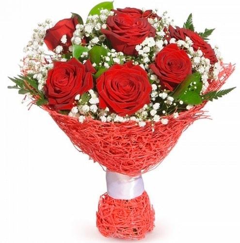 7 adet kırmızı gül buketi  Bartın çiçekçiler