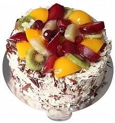 9 ile 12 Kişilik Karışık Meyveli yaş pasta